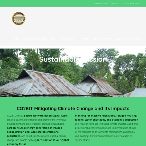 Co2Bit - The World's First Bitcoin Cryptocurrency to benefit climate change