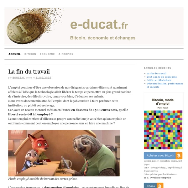 E-ducat.fr » Bitcoin, économie et échanges