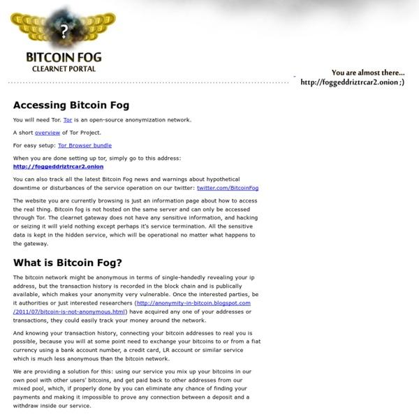 Bitcoin Fog