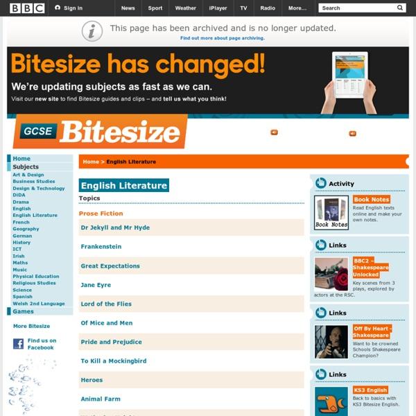 GCSE Bitesize - English Literature