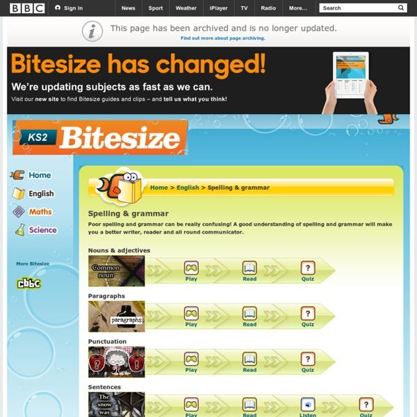 KS2 Bitesize English - Spelling ...