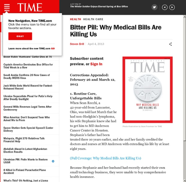 Bitter Pill: Why Medical Bills Are Killing Us