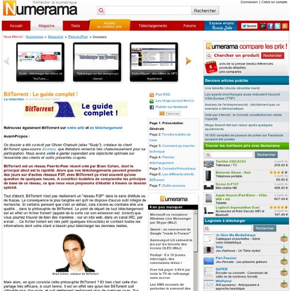 BitTorrent : Le guide complet ! - NUMERAMA.com