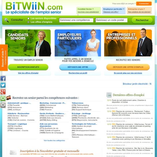 BiTWiiN : emploi retraite, emploi senior, job retraite, offres d'emploi senior