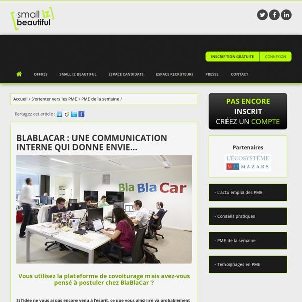 BlaBlaCar : une communication interne qui donne envie…