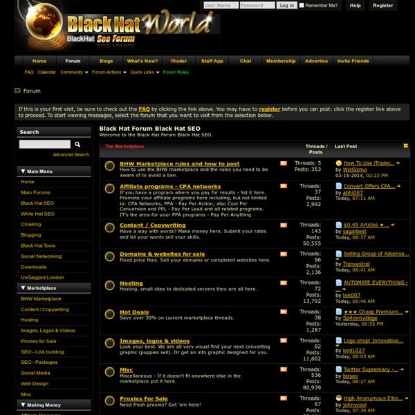 Black Hat Forum Black Hat SEO