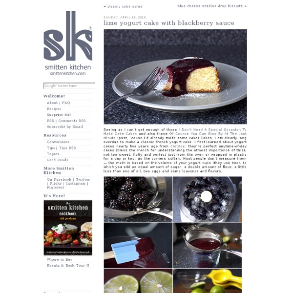 Lime yogurt cake with blackberry sauce   Pearltrees