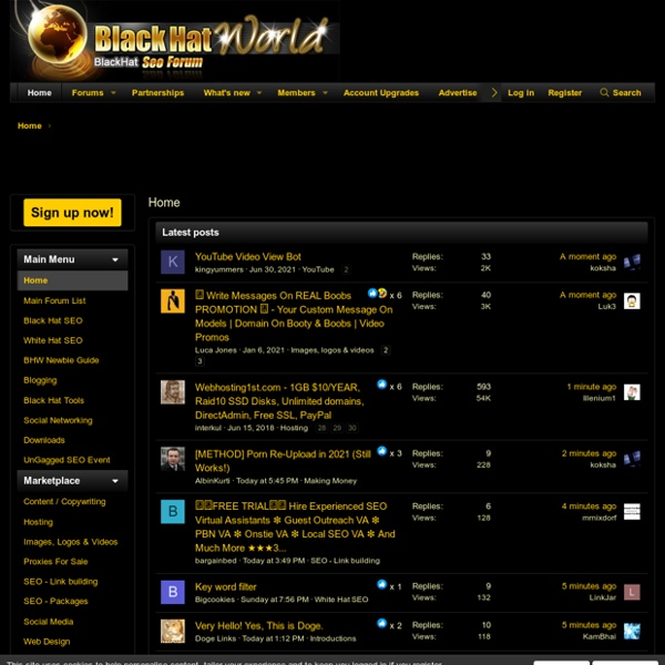 BlackHatWorld the home of internet marketing