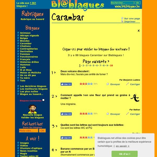 Blagues Carambar - Blablagues, le site de blagues !