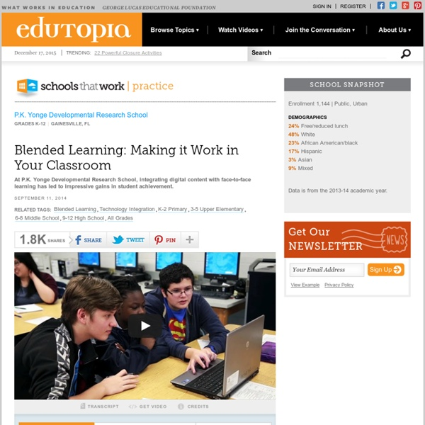 Blended Learning: Making it Work in Your Classroom