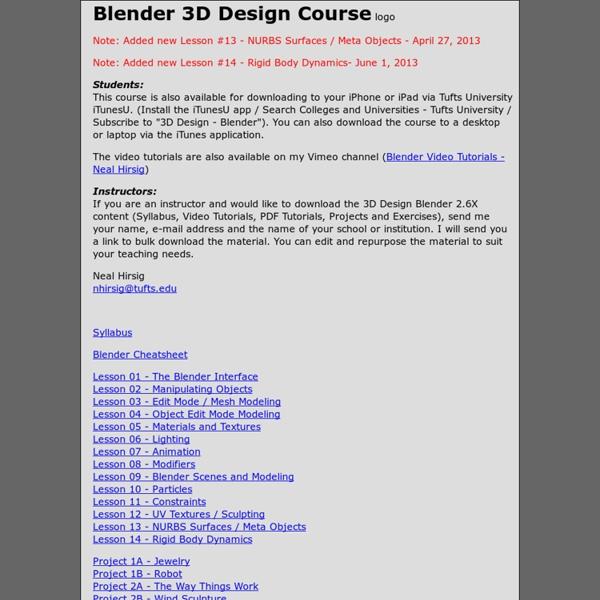 Blender 3D Design Course