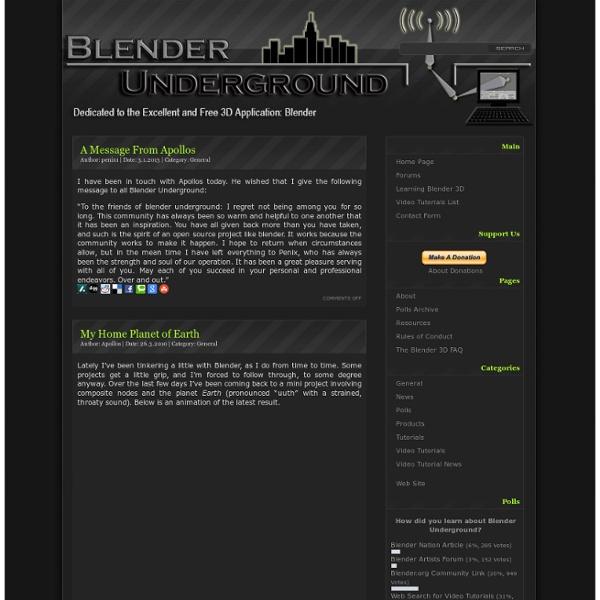 Blender Underground Video Tutorials