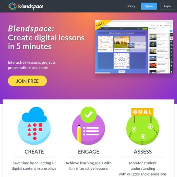 Blendspace - Organiser, partager et, suivre l'utilisation de matériaux éducatifs