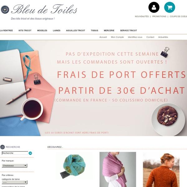 ACCUEIL BLEU DE TOILES