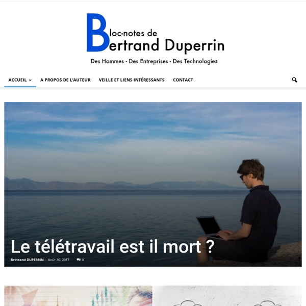 Bloc-Notes de Bertrand Duperrin