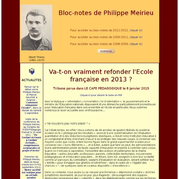 Bloc-notes de Philippe Meirieu