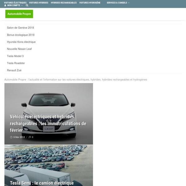 Blog auto - Automobile Propre