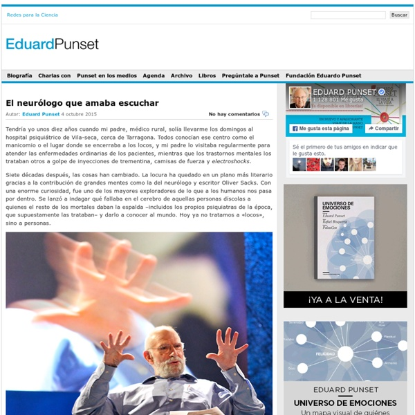 Eduard Punset, escritor y divulgador cientifico