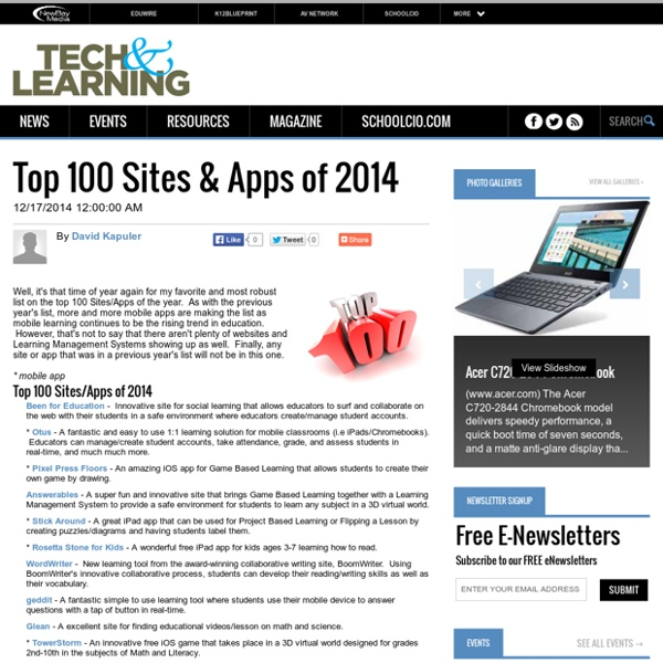 Top 100 Sites & Apps of 2014