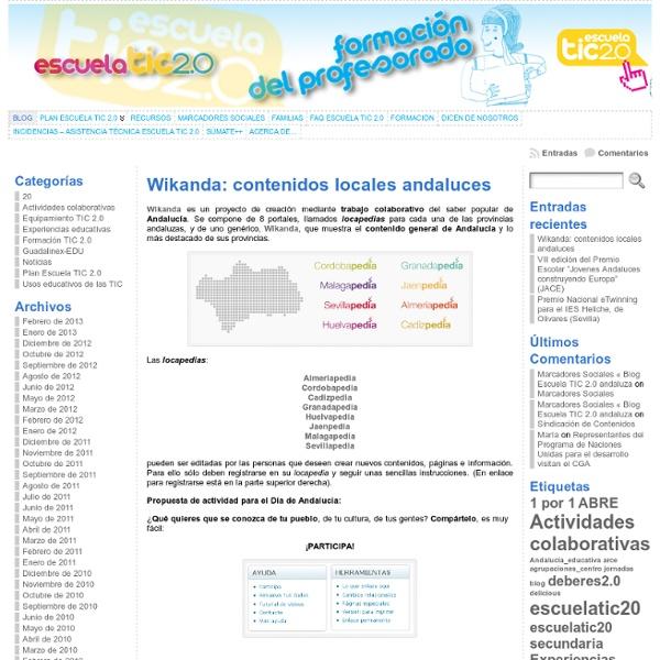 Blog Escuela TIC 2.0 andaluza