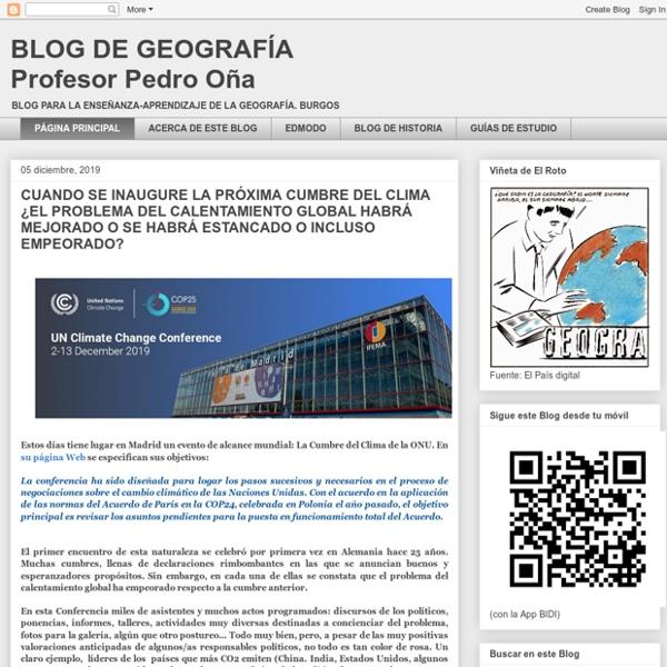 BLOG DE GEOGRAFÍA Profesor Pedro Oña