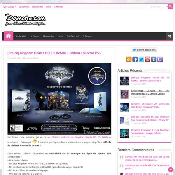 Blog Jeux Vidéo, Cinéma, Playstation 3, Xbox 360, Blu Ray...