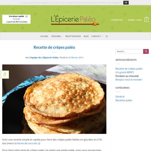 Blog - L'Épicerie Paléo