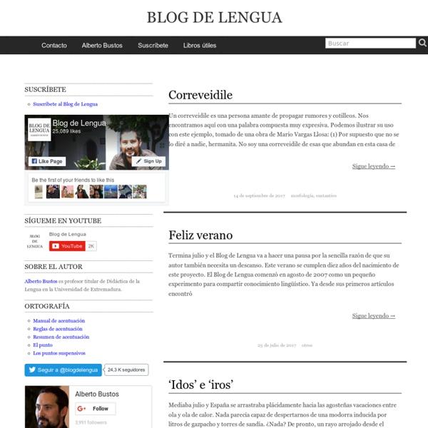 Blog de Lengua - Alberto Bustos