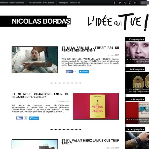 Nicolas Bordas - L'idée qui tue