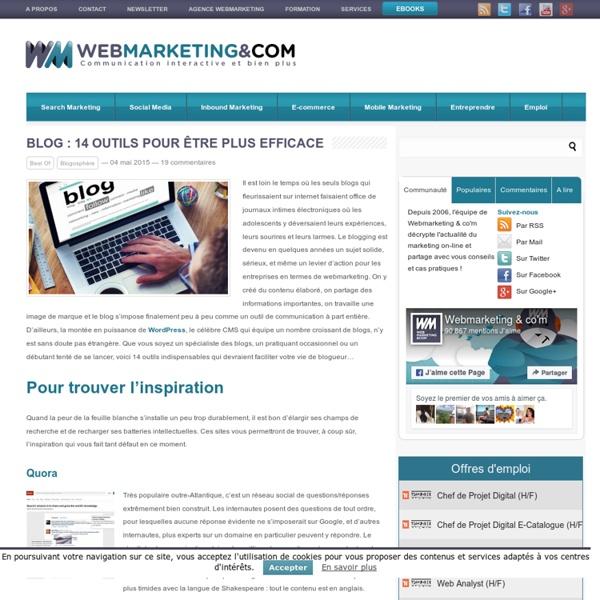 Blog : 14 outils pour être plus efficace
