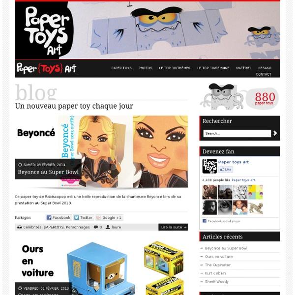 Blog - Paper toys art