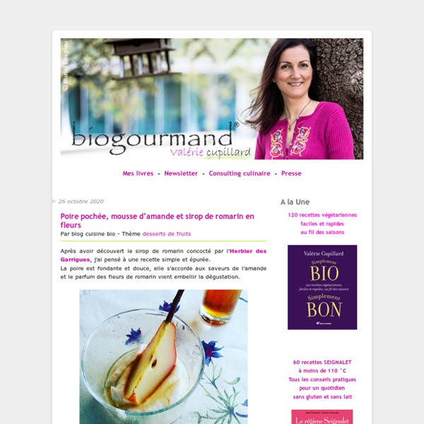 Blog cuisine bio - Recettes bio Cuisine bio sans gluten sans lait