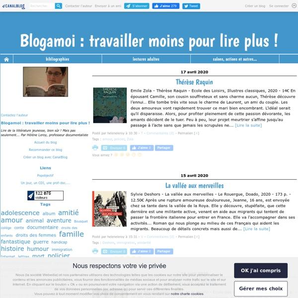 Blogamoi : travailler moins pour lire plus !