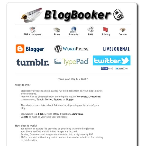 BlogBooker - Blog Livre