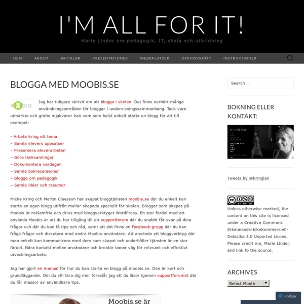 Blogga med moobis.se