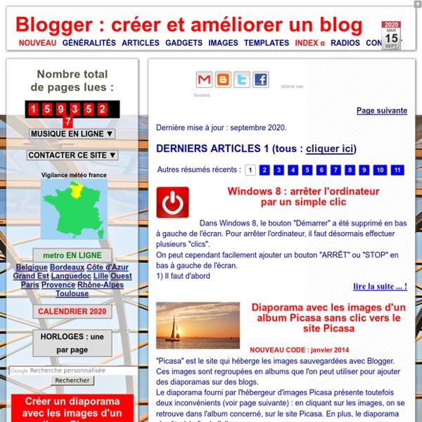 Blogger : créer et améliorer un blog