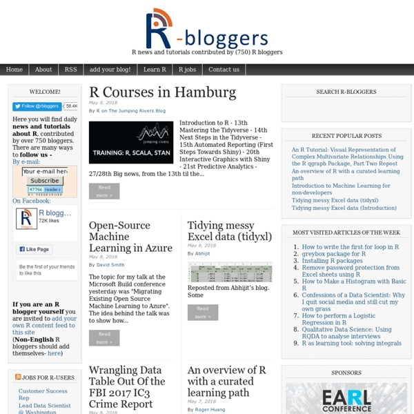 R news and tutorials contributed by (563) R bloggers