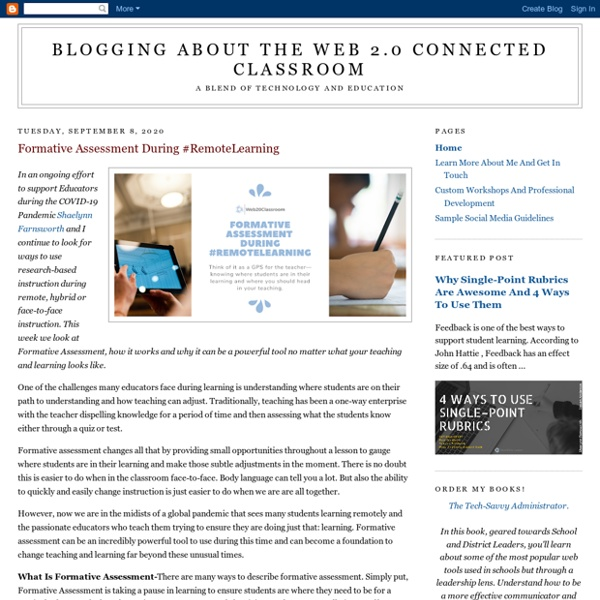 Blogging About The Web 2.0 Connected Classroom