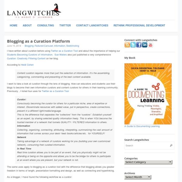 Blogging as a Curation Platform