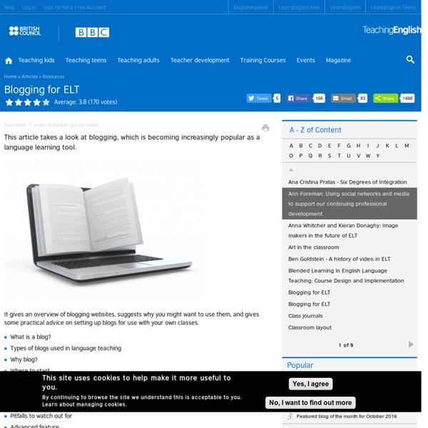 Blogging for ELT