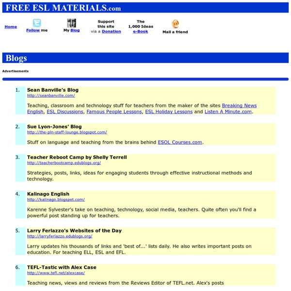Blogs: Free ESL Materials.com