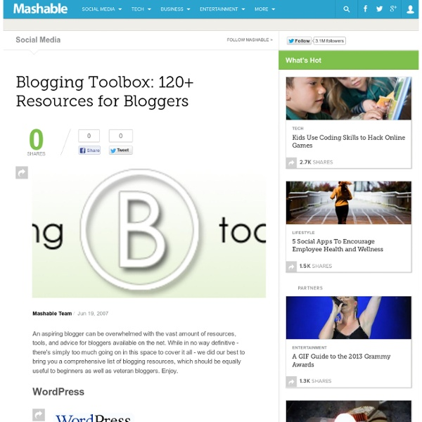 Blogging Toolbox 120+ Resources for Bloggers.url