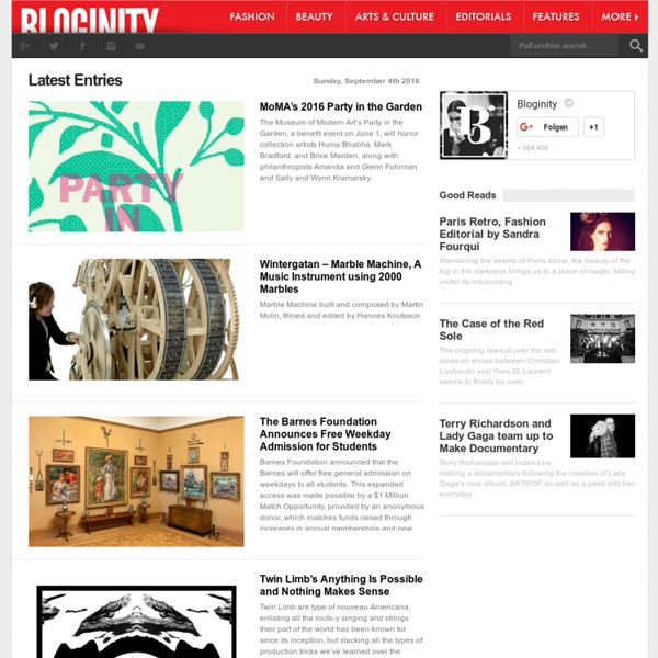 Online Magazine for Fashion and Culture - Bloginity