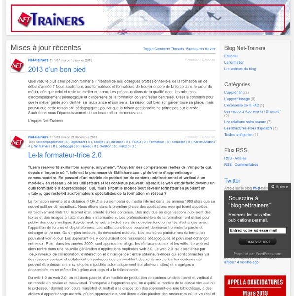 Blog du DU Formateur en réseau / NetTrainers
