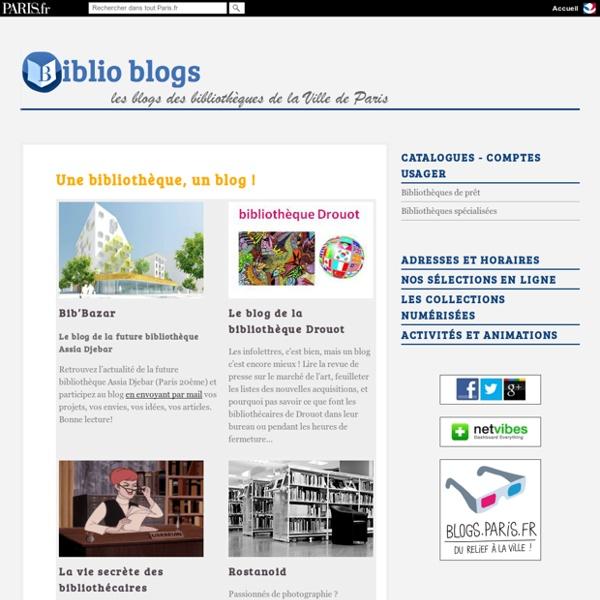 Blogs des bibliothèques de Paris
