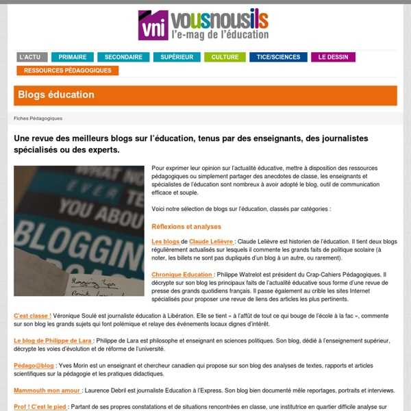 Blogs éducation