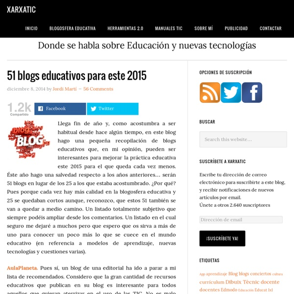 51 blogs educativos para este 2015