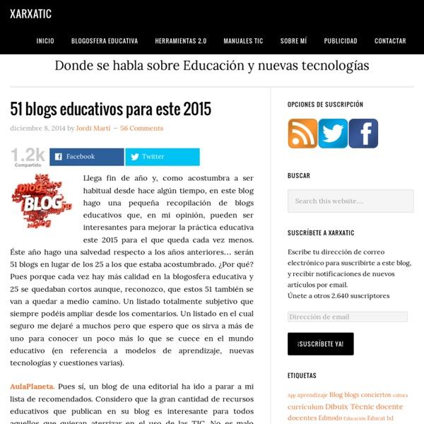 51 blogs educativos para este 2015