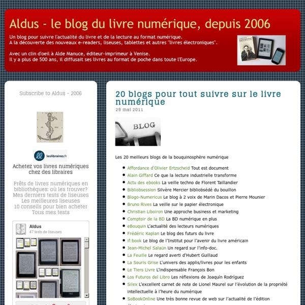20 blogs pour tout suivre sur le livre numérique