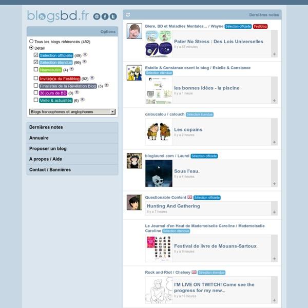BlogsBD.fr - économisez du papier, lisez des blogs bd !